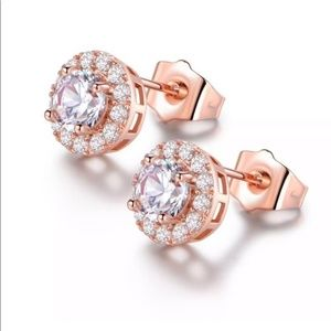 Stunning rose gold plated crystal